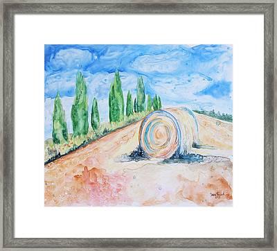 Tuscany On My Mind Framed Print