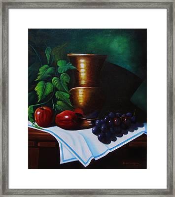 Tuscany Still Life Framed Print