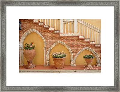 Tuscany Style Welcome Framed Print by Ann Johndro-Collins