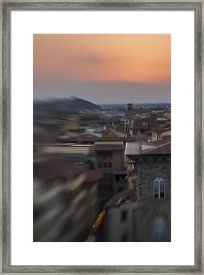 Tuscany Sunset Framed Print