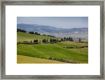 Framed Print featuring the photograph Tuscany by Uri Baruch