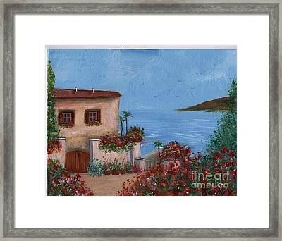 Tuscany View Framed Print