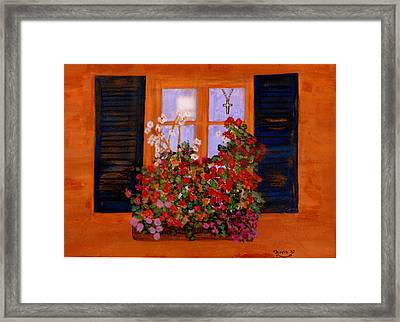 Tuscany Window Box Framed Print