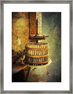 Tuscany Wine Barrel Framed Print