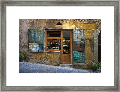 Tuscany Wine Shop Framed Print by Al Hurley