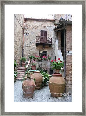 Tuscany Yard Framed Print