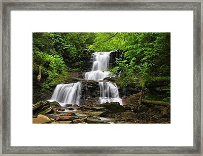 Tuscarora Falls Framed Print by Mike Farslow