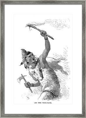 Tuscarora Warrior Framed Print by Granger