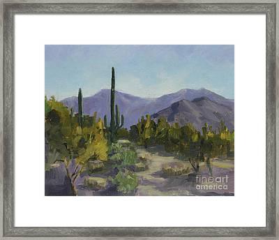 The Serene Desert Framed Print by Maria Hunt
