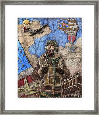 Tuskegee Airman Framed Print by Anthony High