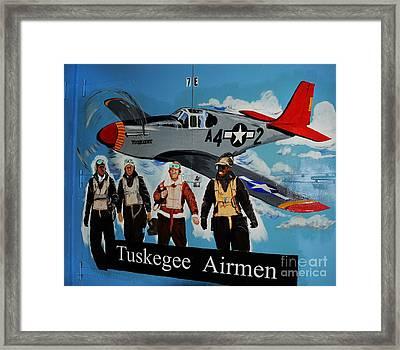 Tuskegee Airmen Framed Print by Leon Hollins III
