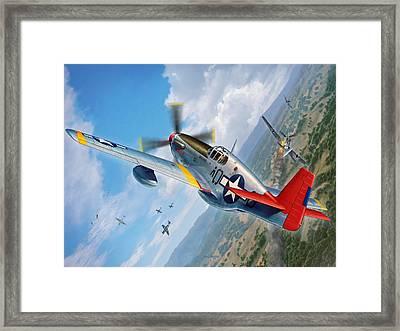 Tuskegee Airmen P-51 Mustang Framed Print by Stu Shepherd