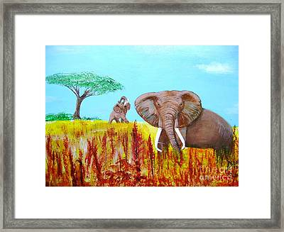 Tusks2 Framed Print