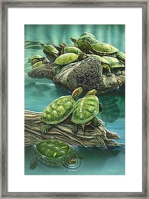 Tutle Pond Framed Print by Larry Taugher
