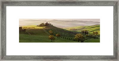 Tutte Le Strade Portano A Belvedere Framed Print by Margarita Chernilova