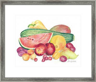 Tutti Frutti Framed Print by Eve-Ly Villberg