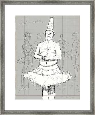 Tutu Man Framed Print by H James Hoff