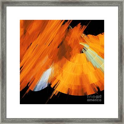 Tutu Stage Left Abstract Orange Framed Print by Andee Design