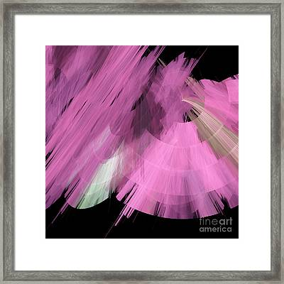 Tutu Stage Left Abstract Pink Framed Print by Andee Design