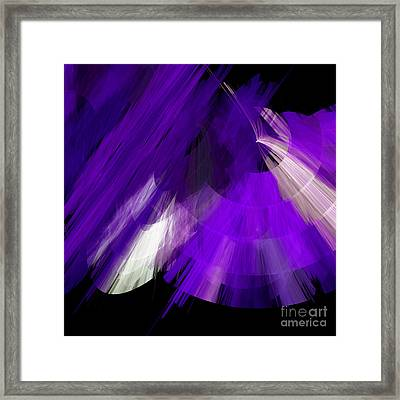 Tutu Stage Left Abstract Purple Framed Print by Andee Design