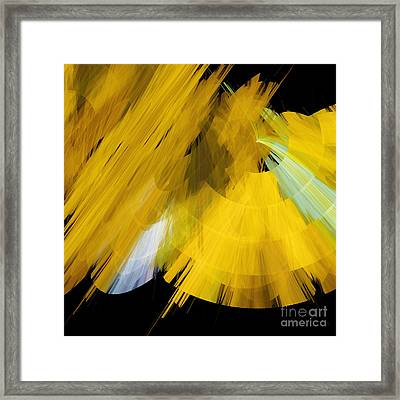 Tutu Stage Left Abstract Yellow Framed Print by Andee Design