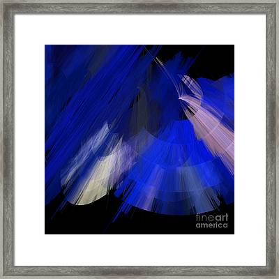 Tutu Stage Left Blue Abstract Framed Print by Andee Design