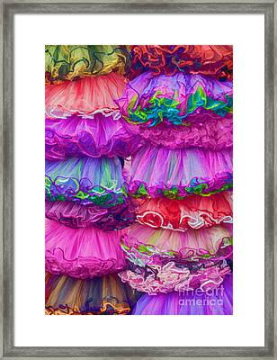 Tutus By The Dozen Framed Print by Kathleen K Parker