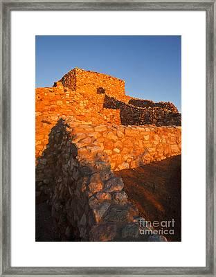Tuzigoot Dawn Framed Print by Mike  Dawson