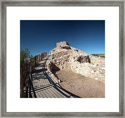 Tuzigoot National Monument, Arizona Framed Print by Brent Bergherm