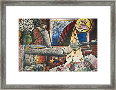 Tv Dinner Framed Print by Larry Butterworth