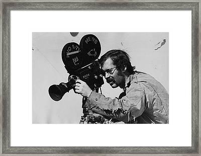 Tv Homage Frank Sharkey Kvoa Tv Fiddler's Contest Armory Park Tucson Arizona 1971-2008 Framed Print by David Lee Guss