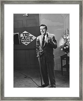 Tv Personality Ted Mack Framed Print