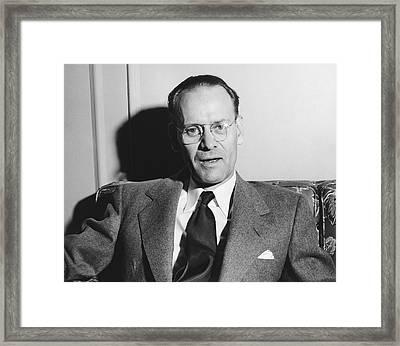 Tv Pioneer Philo Farnsworth Framed Print