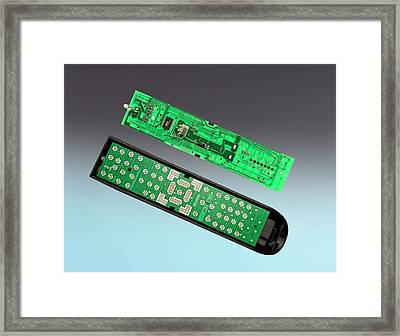 Tv Remote Control Components Framed Print by Sheila Terry