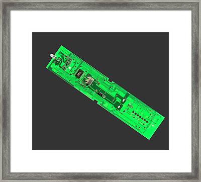 Tv Remote Control Printed Circuit Boar Framed Print by Sheila Terry