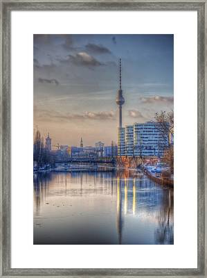 Tv Tower Sunset Framed Print by Nathan Wright