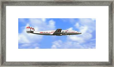 Twa Constellation Airliner Framed Print
