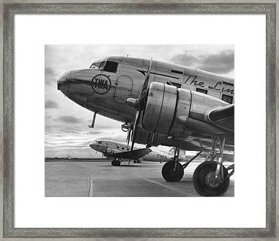 Twa Dc-3b Framed Print by Underwood Archives