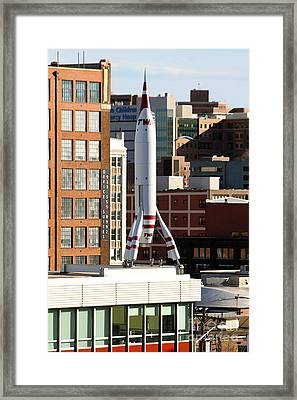 T W A Moonliner II In Kansas City Framed Print by Catherine Sherman