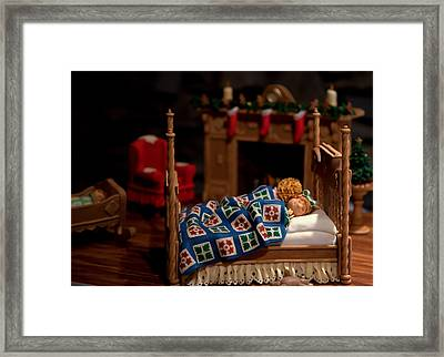Twas The Night Before Christmas Framed Print by Karen Wiles