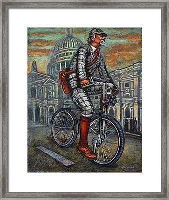 Framed Print featuring the painting Tweed Run In Grey Passing St Pauls London  by Mark Howard Jones