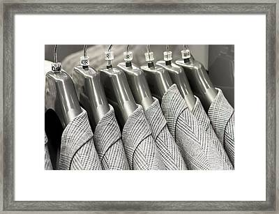 Tweed Suit Jackets Framed Print by Tom Gowanlock