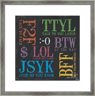 Tween Textspeak 4 Framed Print