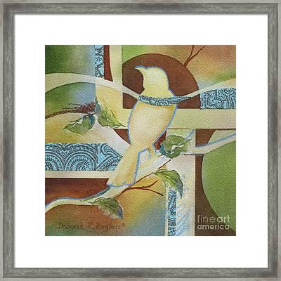 Tweet Me 1 Framed Print by Deborah Ronglien