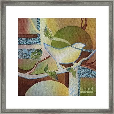 Tweet Me 2 Framed Print by Deborah Ronglien