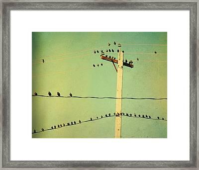 Tweeters Tweeting Framed Print