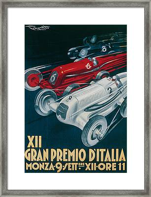 Twelfth Italian Grand Prix At Monza Framed Print by Plinio Codognato