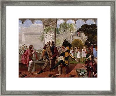 Twelfth Night, Act II, Scene Iv Framed Print