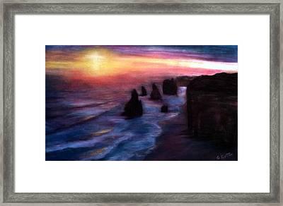 Twelve Apostles Framed Print by Gail Kirtz