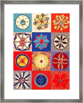 Twelve Mandalas For July Framed Print by Pam Fingado